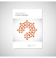 Classic brochure a4 with abstract figures vector