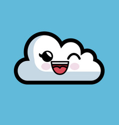 cloud computing character isolated icon vector image