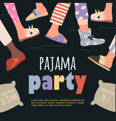 Colored pajama party poster template vector