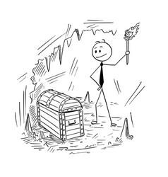 Conceptual cartoon successful businessman who vector