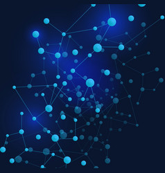 connect blue lines abstract technology glowing vector image