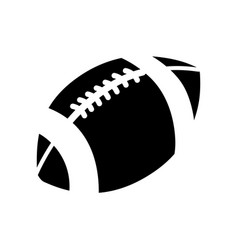 contour american football and his ball icon vector image