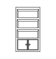 cupboard furniture wooden decoration outline vector image