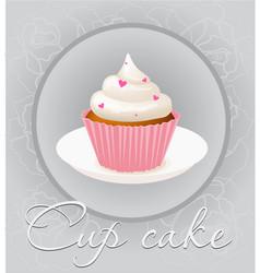 cupcake mesh vector image