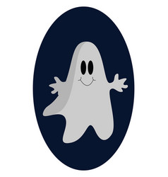 cute ghost on white background vector image