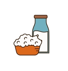 Dairy icon in line style design vector image