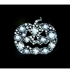Diamond Halloween Pumpkin vector