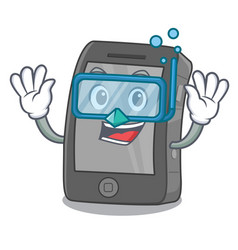 Diving ipad isolated with in character vector