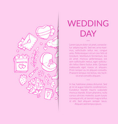 doodle wedding elements background vector image