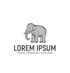 elephant hand drawn logo design concept template vector image