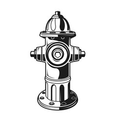 Fire hydran monochrome vector