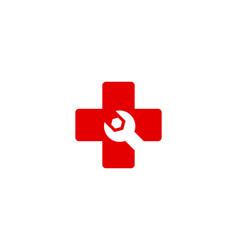 fix medical logo icon design vector image