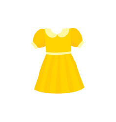 Flare dress with round collar and balloon sleeves vector