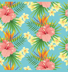 Flowers seamless pattern stylish spring flower vector