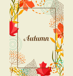 frame with falling leaves vector image
