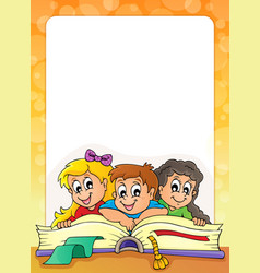 frame with pupil theme 3 vector image