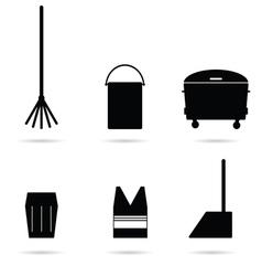 garbage tools vector image