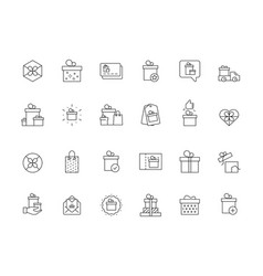 Gifts packages holiday boxes present icons vector