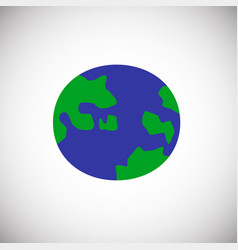 globe color flat on white background vector image