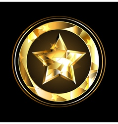 Gold star foil vector