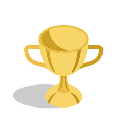 Gold trophy cup for great educational achievements vector