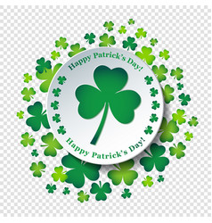 happy st patricks day card or background with vector image
