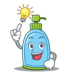 have an idea liquid soap character cartoon vector image