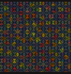 Holographic pattern with overlapped circles vector