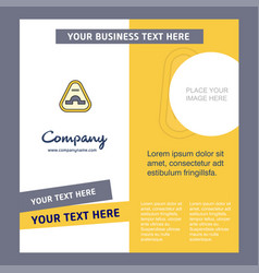 Jump road sign company brochure template busienss vector