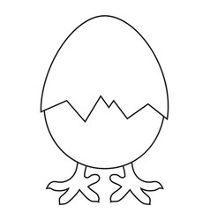 Line art black and white new chick is born vector
