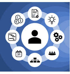 Management circle vector