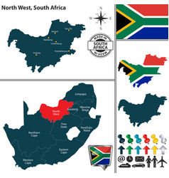 Map of north west south africa vector