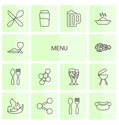 Menu icons vector