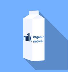 milk gable top carton package icon in flat style vector image
