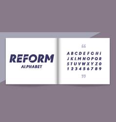 modern font and alphabet set lettering design for vector image