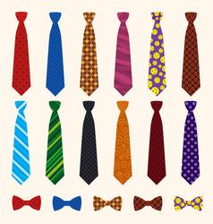 necktie icon set flat style vector image