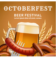 Octoberfest fectival concept background realistic vector