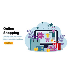 Online shopping concept perfect for vector