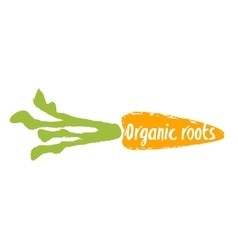 Organic roots hand drawn isolated label vector image