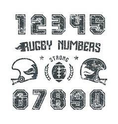 Rugnumbers for t shirt vector