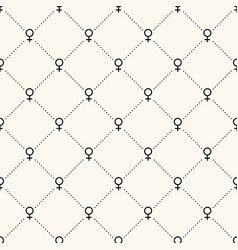 seamless geometric pattern with female vector image