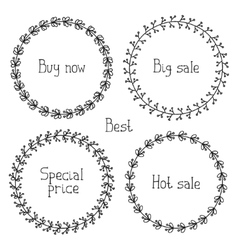 set of hand drawn style badges and elements Sale vector image