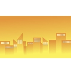 Silhouette of building apartment vector image