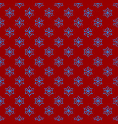 simple repeating geometrical snowflake pattern vector image