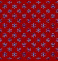 Simple repeating geometrical snowflake pattern vector
