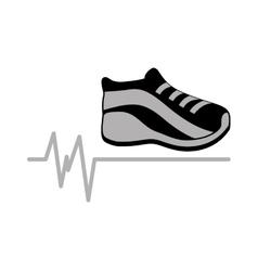 sneaker gray icon sport design graphic vector image