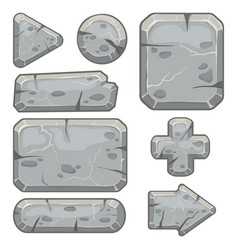 Stone frame rubble rocks banner stones block vector