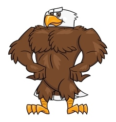 Strong eagle posing 2 vector image