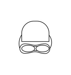 Swimming equipment icon vector