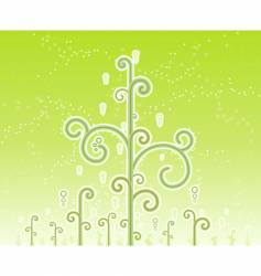 Swirly magic trees background vector